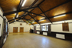 Bleasdale Parish Hall main hall